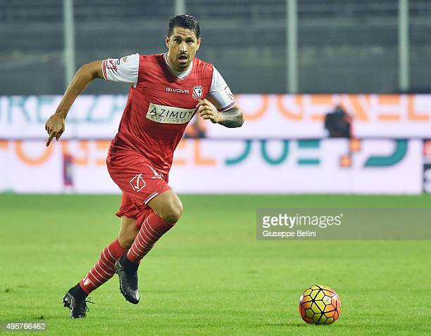 Marco Borriello of Carpi in action during the Serie A match between Frosinone Calcio and Carpi FC at Stadio Matusa on October 28 2015 in Frosinone...