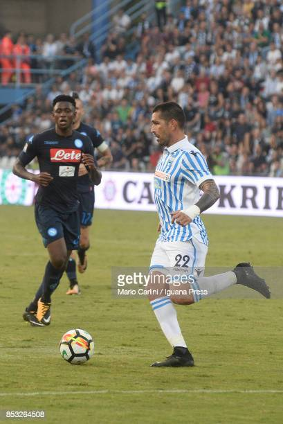 Marco Borriello of Spal in action during the Serie A match between Spal and SSC Napoli at Stadio Paolo Mazza on September 23 2017 in Ferrara Italy