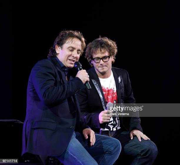 Marco Borsato and Guus Meeuwis perform live at Gelredome on October 20 2009 in Arnhem Netherlands