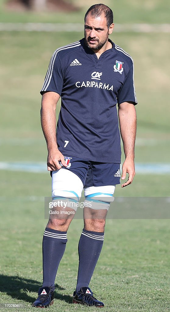 <a gi-track='captionPersonalityLinkClicked' href=/galleries/search?phrase=Marco+Bortolami&family=editorial&specificpeople=226932 ng-click='$event.stopPropagation()'>Marco Bortolami</a> of Italy during the Italy training session at Northwood School on June 10, 2013 in Durban, South Africa.