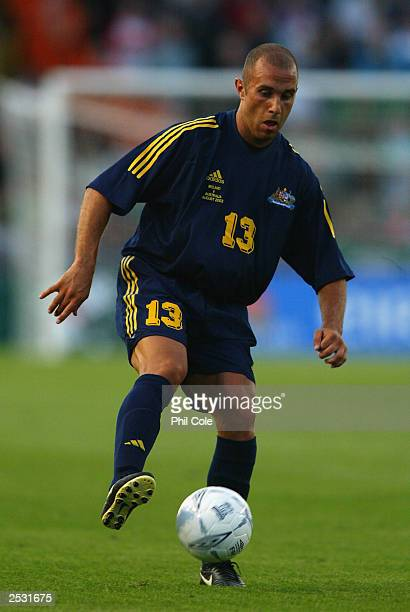 Marco Bresciano of Australia takes control of the ball during the International Friendly Match between the Republic of Ireland and Australia on...