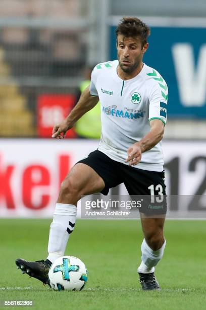 Marco Caligiuri of Greuther Fuerth during the Second Bundesliga match between 1 FC Kaiserslautern and SpVgg Greuther Fuerth at FritzWalterStadion on...
