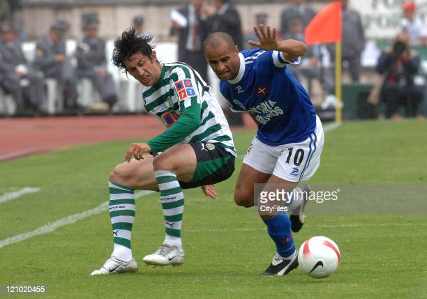 Marco Caneira and Silas during the Portuguese Cup Final match between Belenenses and Sporting Lisbon held in Lisbon Portugal on May 27 2007