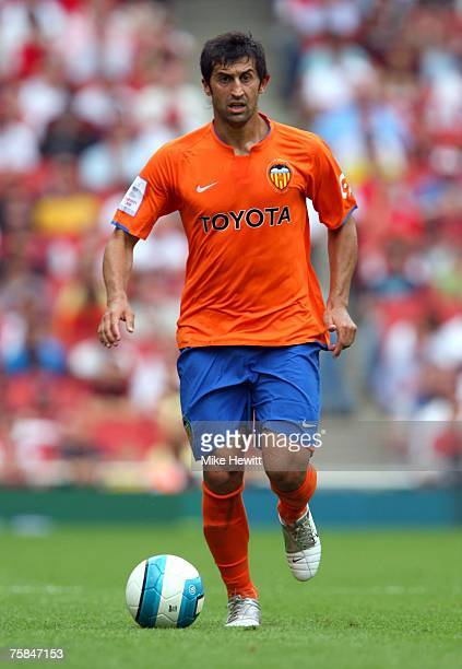 Marco Caneira of Valencia during the 'Emirates Cup' pre season friendly match between Inter Milan and Valencia at the Emirates Stadium on July 28...