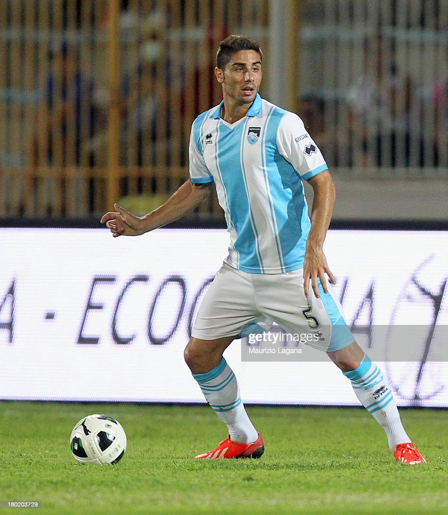 Marco Capuano of Pescara during the Serie B match between Trapani Calcio and Pescara Calcio at Stadio Provinciale on September 2, 2013 in Trapani, Italy.