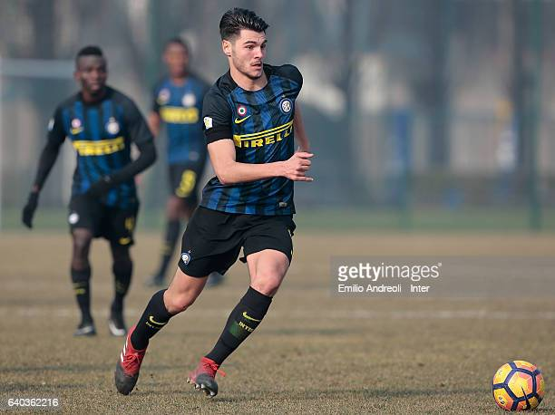 Marco Carraro of FC Internazionale Milano in action during the Primavera Tim juvenile match between FC Internazionale and US Salernitana at Centro di...