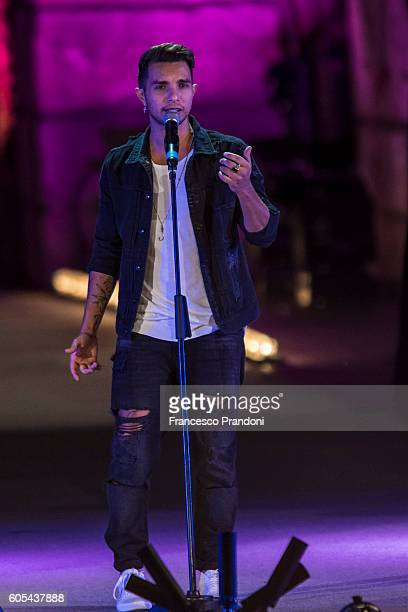 Marco Carta at Festival Show 2016 in Arena on September 13 2016 in Verona Italy
