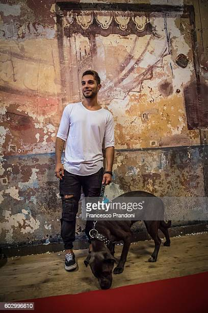Marco Carta at red carpet of 'Heart Of A Dog' Screening at Teatro Parenti on September 11 2016 in Milan Italy
