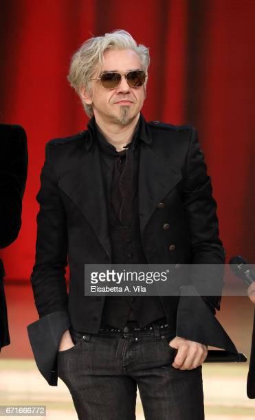 Marco Castoldi aka Morgan attends the Italian TV show 'Ballando Con Le Stelle' at Auditorium Rai on April 22 2017 in Rome Italy