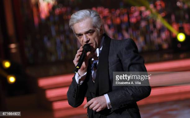 Marco Castoldi aka Morgan performs on the Italian TV show 'Ballando Con Le Stelle' at Auditorium Rai on April 22 2017 in Rome Italy
