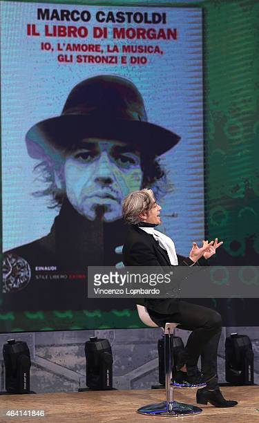 Marco Castoldi alias Morgan attends the 'Quelli Che Il Calcio' Tv Show on February 22 2015 in Milan Italy