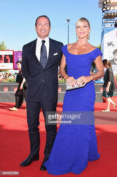 Marco Costantini and Matilde Brandi attend the 'Anime Nere' Premiere during the 71st Venice Film Festival at Sala Grande on August 29 2014 in Venice...