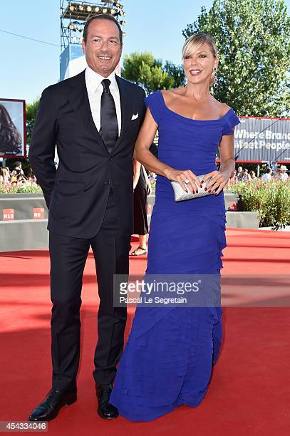 Marco Costantini and Matilde Brandi attend the 'Anime Nere' Premiere during the 71st Venice Film Festival on August 29 2014 in Venice Italy