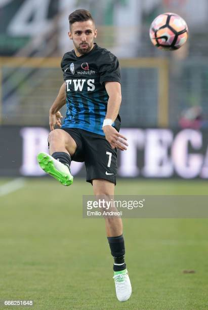 Marco D Alessandro of Atalanta BC in action during the Serie A match between Atalanta BC and US Sassuolo at Stadio Atleti Azzurri d'Italia on April 8...