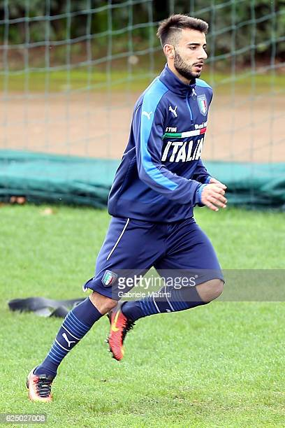 Marco D'Alessandro of Italy during a training session at Coverciano on November 22 2016 in Florence Italy