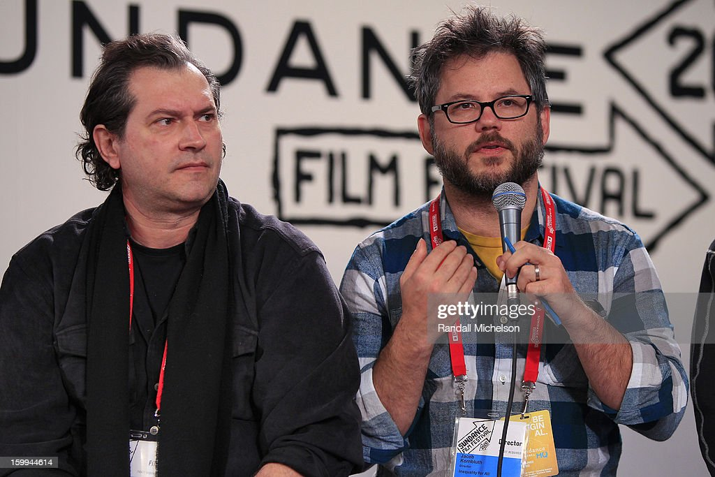 Marco D'Ambrosio and Jacob Kornbluth attend the BMI Roundtable at Sundance House on January 23, 2013 in Park City, Utah.