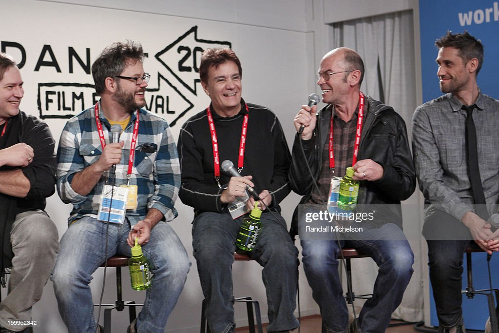 Marco D'Ambrosio, Jacob Kornbluth, Gary Lionelli, Robert Stone and Rob Simonsen attend the BMI Roundtable at Sundance House on January 23, 2013 in Park City, Utah.