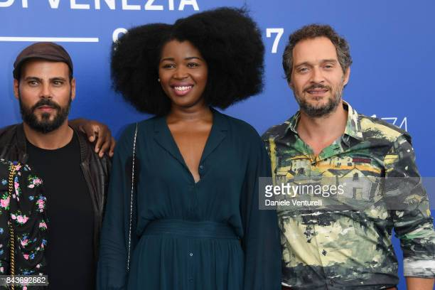 Marco D'Amore Aline Belibi and Claudio Santamaria attend the 'Brutti E Cattivi' photocall during the 74th Venice Film Festival at Sala Casino on...