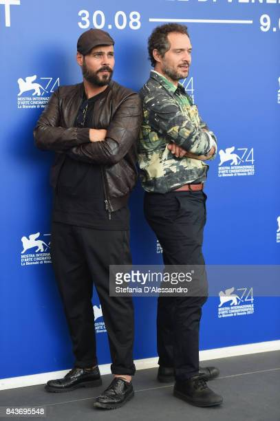 Marco D'Amore and Claudio Santamaria attend the 'Brutti E Cattivi' photocall during the 74th Venice Film Festival on September 7 2017 in Venice Italy