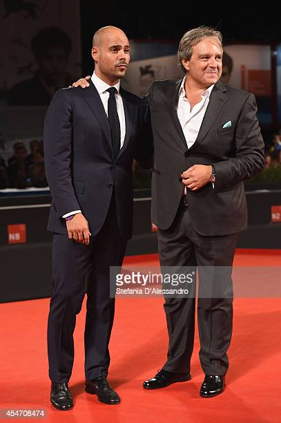 Marco D'Amore and Giampaolo Fabrizio attend the 'Perez' Premiere during the 71st Venice Film Festiva on September 5 2014 in Venice Italy