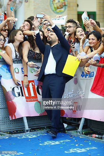 Marco D'Amore attends Giffoni Film Fest 2016 Day 3 blue carpet on July 17 2016 in Giffoni Valle Piana Italy