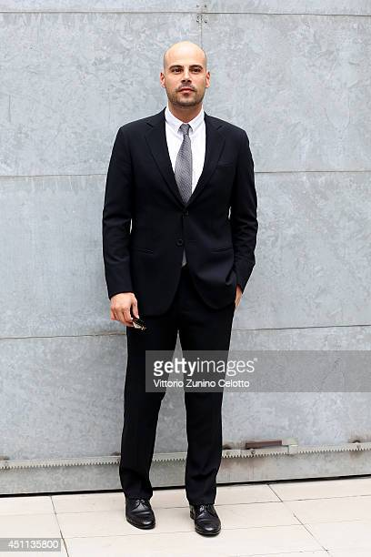 Marco D'Amore attends Giorgio Armani show during Milan Menswear Fashion Week Spring Summer 2015 on June 24 2014 in Milan Italy