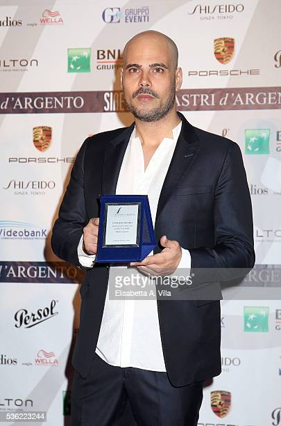 Marco D'Amore attends Nastri D'Argento 2016 Award Nominations at Maxxi on May 31 2016 in Rome Italy