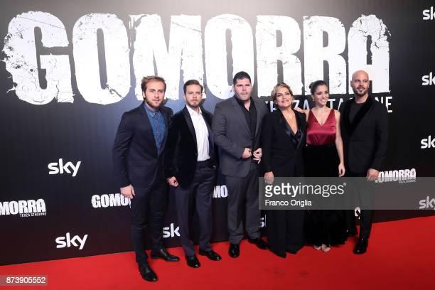 Marco D'Amore Cristiana Donadio Arturo Muselli Salvatore Esposito Cristiana Dell'Anna and Loris De Luna attend the 'Gomorra' premiere on November 13...