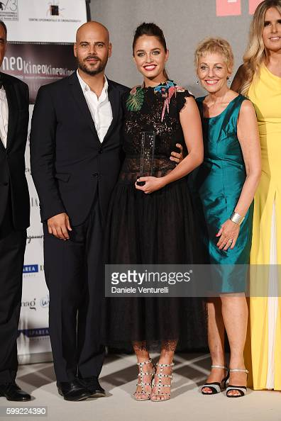 Marco D'Amore Matilde Gioli Gloria Satta and Tiziana Rocca attend the Kineo Diamanti Award Ceremony during the 73rd Venice Film Festival on September...