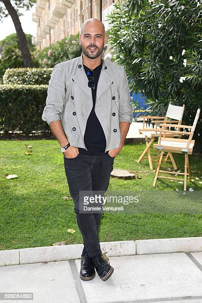 Marco D'Amore poses after the Kineo Diamanti Award press conference during the 73rd Venice Film Festival at on September 4 2016 in Venice Italy