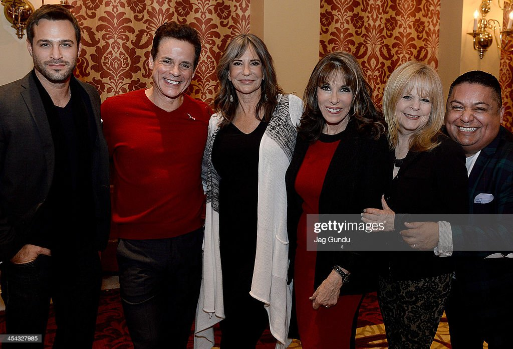 Marco Dapper Christian LeBlanc Jess Walton Kate Linder Patti Denney and George Guzman pose for the media at the 2nd Annual OpportunitTeas High Tea...