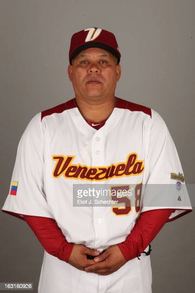 Marco Davalillo of Team Venezuela poses for a headshot for the 2013 World Baseball Classic at Roger Dean Stadium on Monday March 4 2013 in Jupiter...