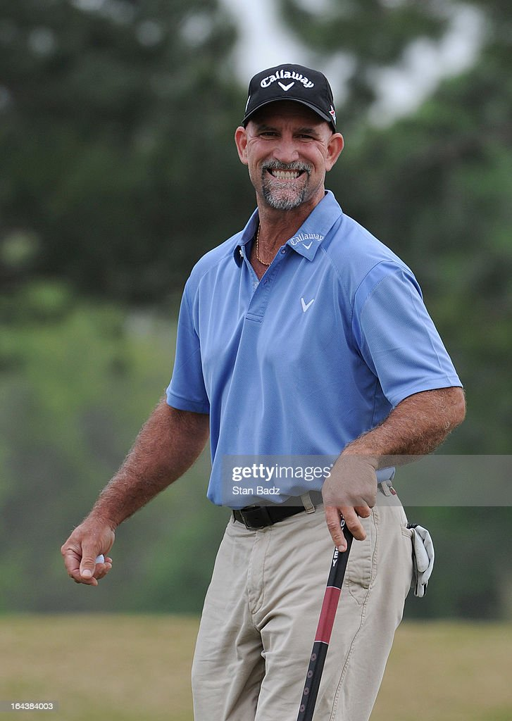<a gi-track='captionPersonalityLinkClicked' href=/galleries/search?phrase=Marco+Dawson&family=editorial&specificpeople=2130527 ng-click='$event.stopPropagation()'>Marco Dawson</a> smiles after his birdie putt on the sixth hole during the third round of the Chitimacha Louisiana Open at Le Triomphe Country Club on March 23, 2013 in Broussard, Louisiana.