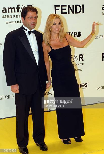 Marco De Benedetti and Paola Ferrari at the amfAR's inaugural Cinema Against AIDS Rome at Palazzo Fendi in Rome Italy on October 26 2007 amfAR the...