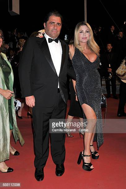 Marco De Benedetti and Paola Ferrari attend 'The Neon Demon' premiere at the 69th annual Cannes Film Festival at Palais des Festivals on May 20 2016...