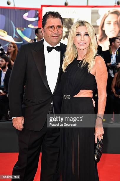 Marco De Benedetti and Paola Ferrari attend the Opening Ceremony and 'Birdman' premiere during the 71st Venice Film Festival on August 27 2014 in...