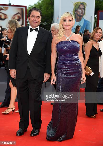 Marco De Benedetti and Paola Ferrari attend the opening ceremony and premiere of 'Everest' during the 72nd Venice Film Festival on September 2 2015...