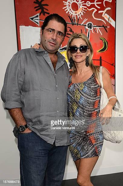 Marco de Benedetti and Paola Ferrari attends Art Basel Miami Beach 2012 VIP Preview at the Miami Beach Convention Center on December 5 2012 in Miami...