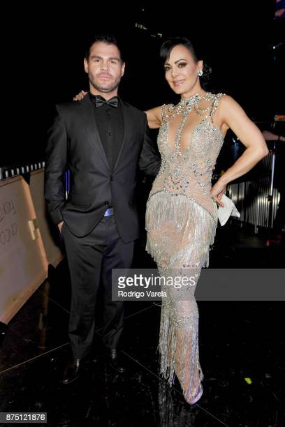 Marco de la O and Maribel Guardia attend The 18th Annual Latin Grammy Awards at MGM Grand Garden Arena on November 16 2017 in Las Vegas Nevada