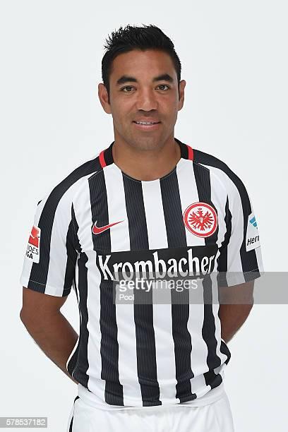 Marco Fabain poses during the Eintracht Frankfurt Team Presentation on July 21 2016 in Frankfurt am Main Germany
