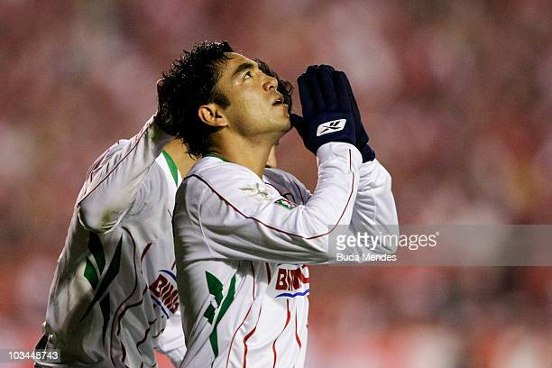 Marco Fabian of Chivas Guadalajara reacts during a match against Internacional as part of the 2010 Copa Santander Libertadores at Beira Rio Stadium...