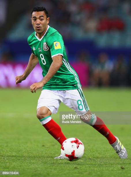 Marco Fabian of Mexico in action during the FIFA Confederations Cup Russia 2017 Group A match between Mexico and New Zealand at Fisht Olympic Stadium...