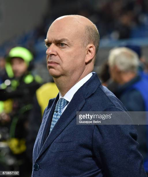 Marco Fassone AD of AC Milan prior the Serie A match between US Sassuolo and AC Milan at Mapei Stadium Citta' del Tricolore on November 5 2017 in...