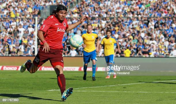 Marco Fiore of Koeln during the Third League Playoff Leg Two between FC Carl Zeiss Jena and Viktoria Koeln on June 01 2017 at ErnstAbbeSportfeld in...