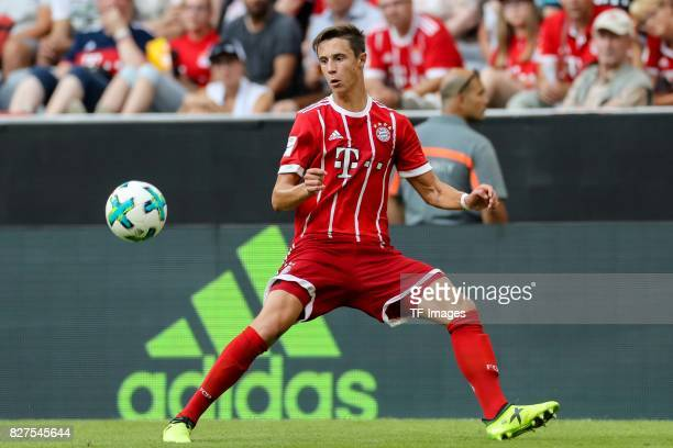 Marco Friedl of Bayern Muenchen controls the ball during the Audi Cup 2017 match between SSC Napoli and FC Bayern Muenchen at Allianz Arena on August...