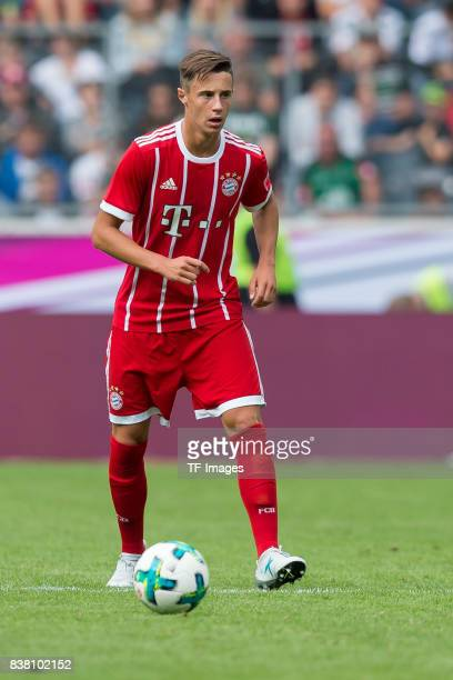 Marco Friedl of Bayern Muenchen controls the ball during the Telekom Cup 2017 Final between SV Werder Bremen and FC Bayern Muenchen at Borussia Park...