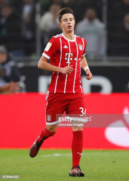 Marco Friedl of Bayern Munchen during the German Bundesliga match between Borussia Monchengladbach v Bayern Munchen at the Borussia Park on November...