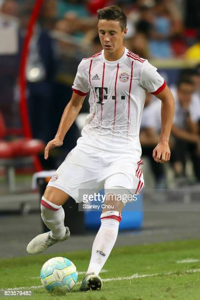 Marco Friedl of FC Bayern during the International Champions Cup match between FC Bayern and FC Internzionale at National Stadium on July 27 2017 in...