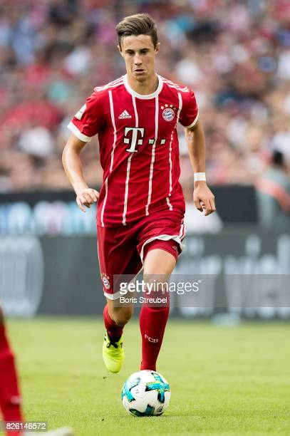 Marco Friedl of FC Bayern Muenchen runs with the ball during the Audi Cup 2017 match between SSC Napoli and FC Bayern Muenchen at Allianz Arena on...