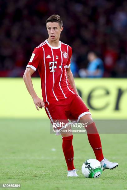 Marco Friedl of Muenchen runs with the ball during the International Champions Cup Shenzen 2017 match between Bayern Muenchen and AC Milan at on July...